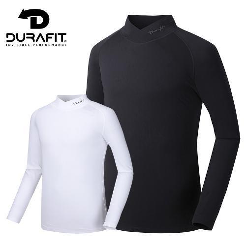 듀라핏 남성 컴프레션 써모핏 V 하프넥 기모 티셔츠 D20F3LT01