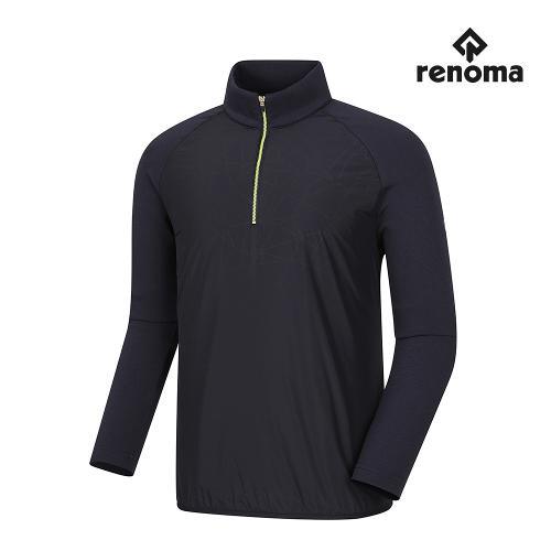 [레노마골프]남성 기모 나염 포인트 반집업 티셔츠 RMTHG4113-915_G