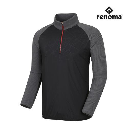 [레노마골프]남성 기모 나염 포인트 반집업 티셔츠 RMTHG4113-199_G