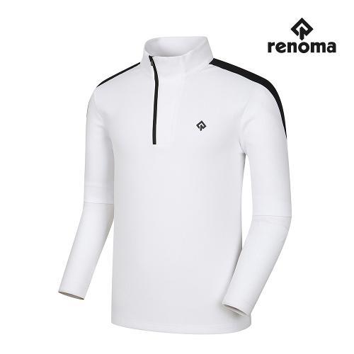 [레노마골프]남성 어깨 배색 반집업 티셔츠 RMTHI3109-101_G