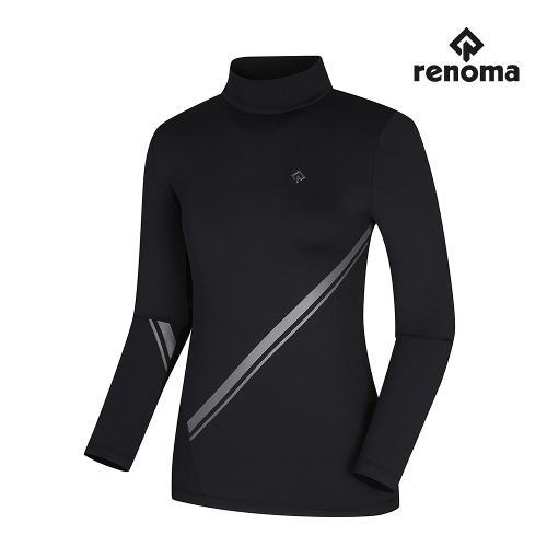 [레노마골프]여성 사선 배색 하이넥 티셔츠 RWTHI7102-199_G