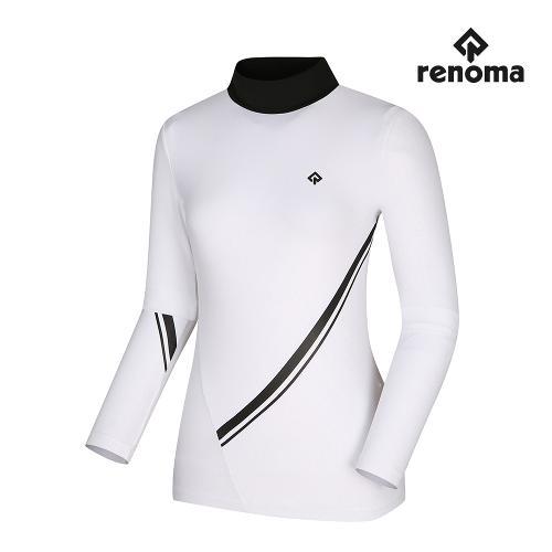 [레노마골프]여성 사선 배색 하이넥 티셔츠 RWTHI7102-101_G