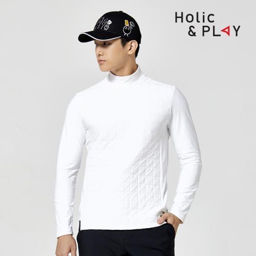 홀릭앤플레이 남성 패딩 스판 긴팔티셔츠 HA4MTS003WH