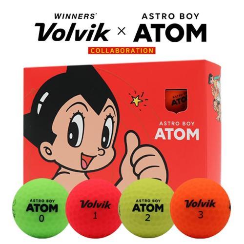 볼빅X아톰 콜라보레이션 VIVID 비비드 무광 2피스 4색 칼라 골프볼(12알)