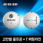 데이비드 /1구/ 2021년 신형 고반발 비거리 골프공 P1 T라인 퍼팅 정렬 골프볼 남성 여성