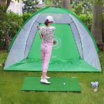 텐트형 골프네트 2M 그물망 스윙 퍼팅 실내외골프연습