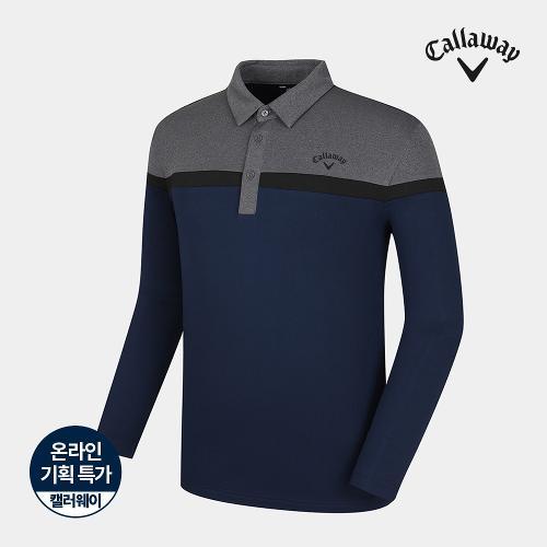 [캘러웨이]기획 남성 기모 컬러 블록 티셔츠 CMTYJ4653-930_G