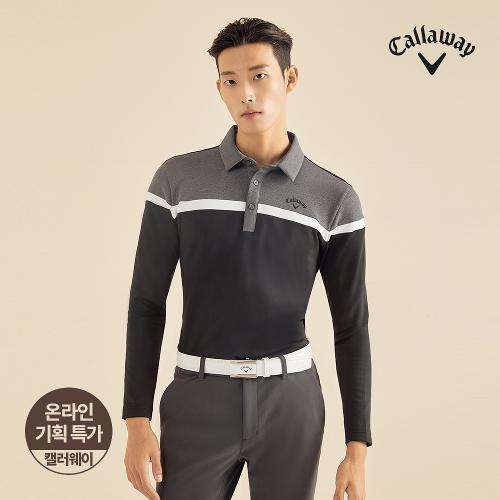 [캘러웨이]기획 남성 기모 컬러 블록 티셔츠 CMTYJ4653-199_G