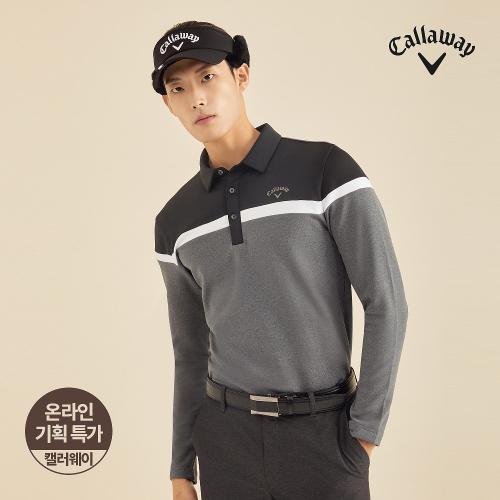 [캘러웨이]기획 남성 기모 컬러 블록 티셔츠 CMTYJ4653-193_G