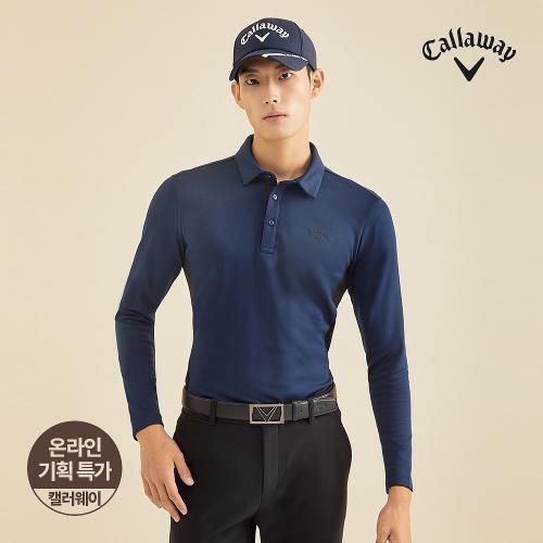 [캘러웨이]기획 남성 기모 배색 카라 긴팔 티셔츠 CMTYJ4652-930_G