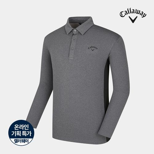 [캘러웨이]기획 남성 기모 배색 카라 긴팔 티셔츠 CMTYJ4652-193_G