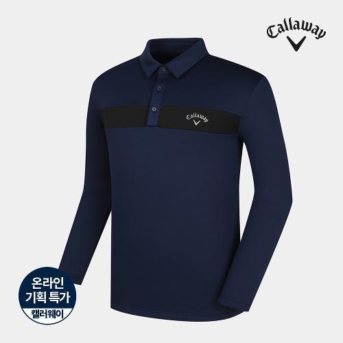 [캘러웨이]기획 남성 기모 배색 포인트 티셔츠 CMTYJ4751-930_G