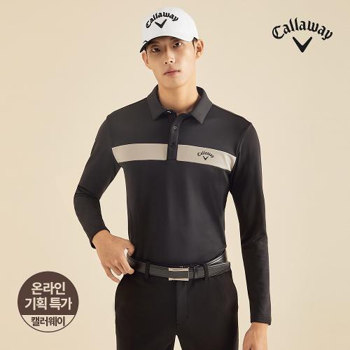 [캘러웨이]기획 남성 기모 배색 포인트 티셔츠 CMTYJ4751-199_G
