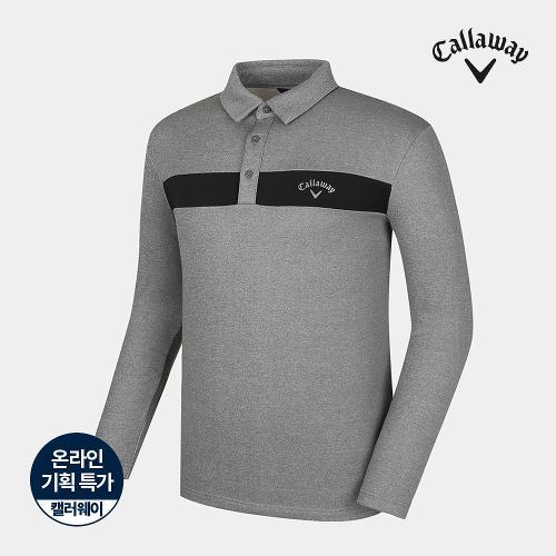 [캘러웨이]기획 남성 기모 배색 포인트 티셔츠 CMTYJ4751-193_G