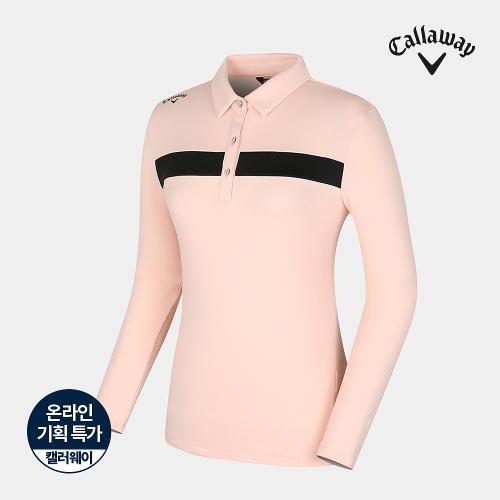 [캘러웨이]기획 여성 기모 배색 포인트 티셔츠 CWTYJ8652-304_G