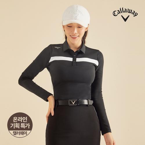 [캘러웨이]기획 여성 기모 배색 포인트 티셔츠 CWTYJ8652-199_G