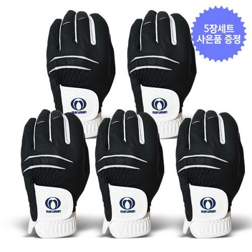 ★네비티 사은품 증정★5장1세트/마루망 정품 2021년 신제품 반양피 남성용 골프장갑