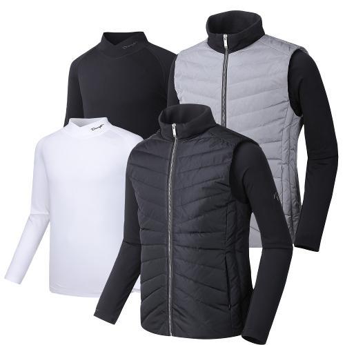 (코디세트)듀라핏 덕다운 패딩 자켓+하프넥 기모 티셔츠 JK04LT01