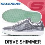 스케쳐스 SKECHERS GO GOLF DRIVE SHINE 골프화 여성 실버