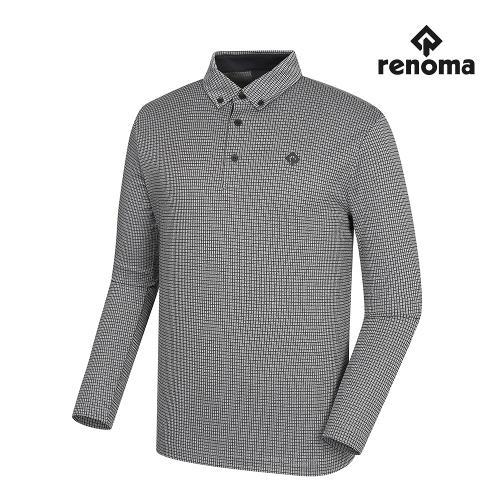 [레노마골프]남성 격자 무늬 카라 티셔츠 RMTYI3108-190_G