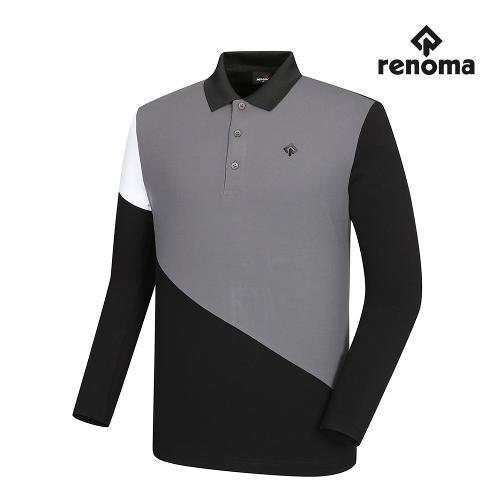 [레노마골프]남성 배색 절개 카라 티셔츠 RMTPI3125-199_G