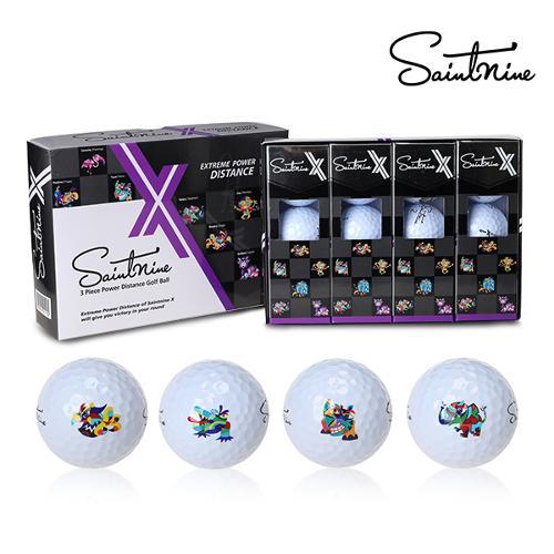 세인트나인 초고반발 탄성코어 X-WHITE 골프볼(3피스)