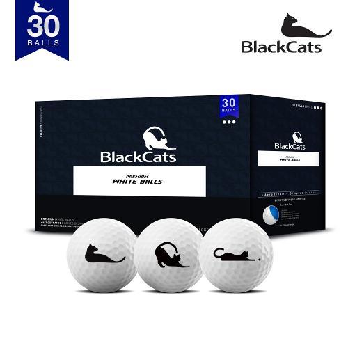 블랙캣츠 21년형  화이트 유광 30알 골프공