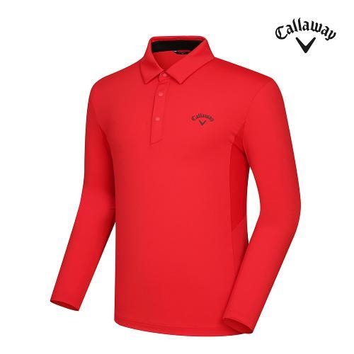 [캘러웨이]21SS 남성 메쉬 배색 카라 티셔츠 CMTYK1141-500_G