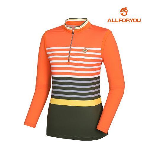 [올포유]여성 줄무늬 반집업 티셔츠 AWTHJ5105-301_G
