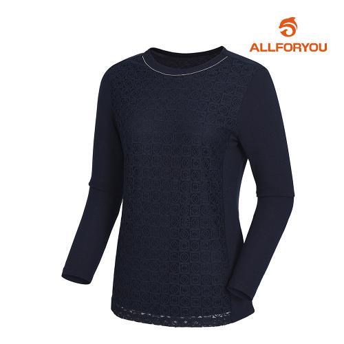 [올포유]여성 넥비즈 레이스 티셔츠 AWTRJ5153-915_G