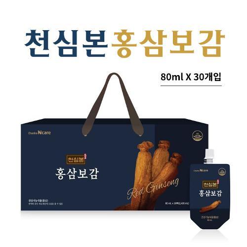 [선물박스포장]천호엔케어 천심본 홍삼보감 [80ml x 30개입]