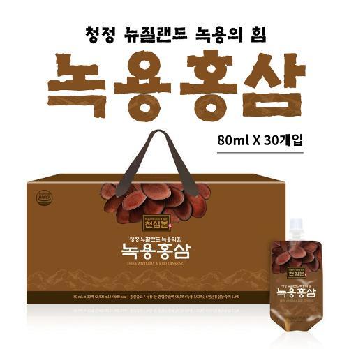 [선물박스포장]천호엔케어 천심본 녹용홍삼 [80ml x 30개입]