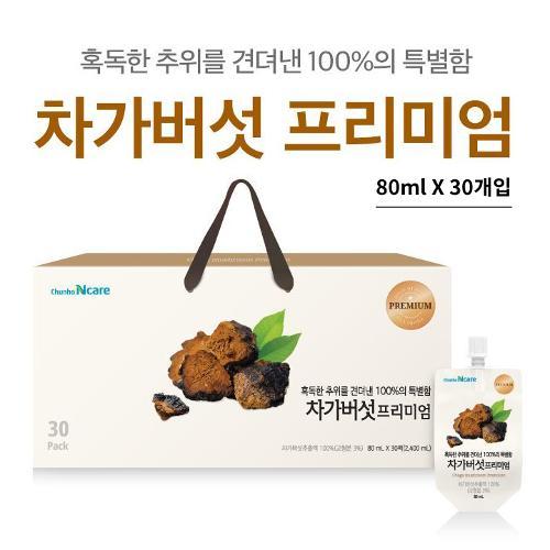 [선물박스포장]천호엔케어 차가버섯 프리미엄 [80ml x 30개입]