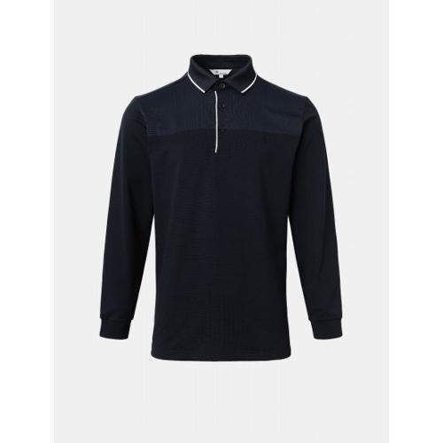 [빈폴골프] 남성 네이비 투톤 블록 에센셜 칼라 티셔츠 (BJ1141B71R)