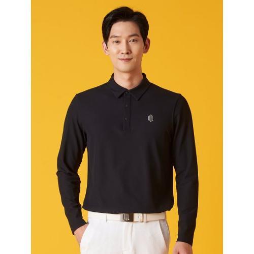 [빈폴골프] [NDL라인] 남성 블랙 프리미엄 텍스처 칼라 티셔츠 (BJ1141M405)