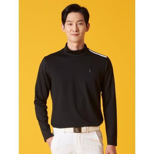 [빈폴골프] ★임진한 Pick★ [NDL라인] 남성 블랙 로고 원포인트 하이넥 티셔츠 (BJ1141M475)