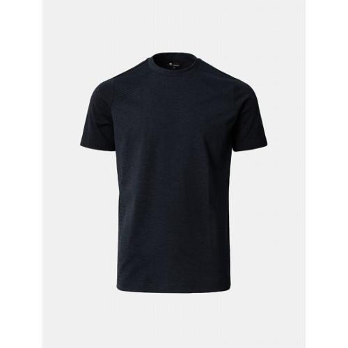 [빈폴골프] [NDL라인] 남성 블랙 심리스 라운드 티셔츠 (BJ1142M435)