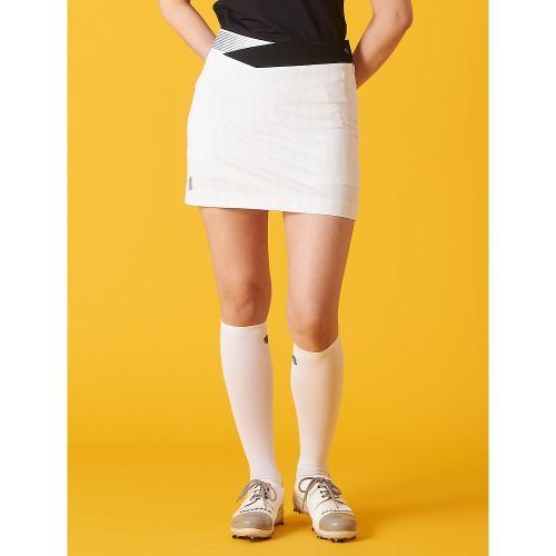 [빈폴골프] [NDL라인] 여성 라이트 그레이 배색 패턴 H라인 큐롯 (BJ1126L402)