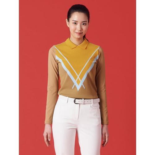 [빈폴골프] 여성 베이지 아가일 니트 티셔츠 (BJ1141A03A)