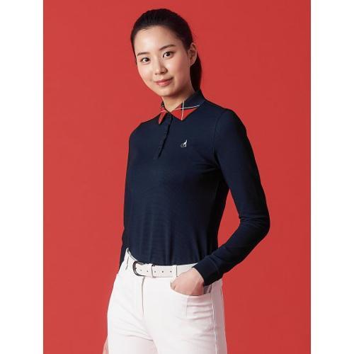 [빈폴골프] 여성 네이비 에센셜 아가일 칼라 티셔츠 (BJ1141A71R)