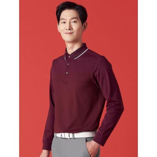 [빈폴골프] 남성 와인 투톤 블록 에센셜 칼라 티셔츠 (BJ1141B71Z)