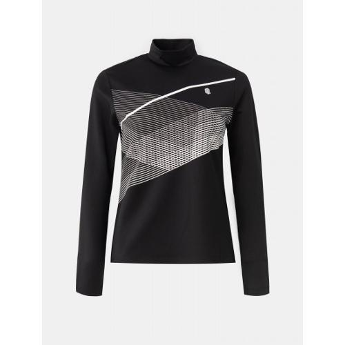 [빈폴골프] [NDL라인] 여성 블랙 라인 프린트 이너 티셔츠 (BJ1141L435)