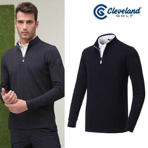 [클리브랜드골프] 2in1 셔츠 레이어드형 볼륨로고 남성 긴팔티셔츠/골프웨어_CGKMTS013x