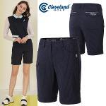 [클리브랜드골프] 스트라이프 허리밴딩 여성 4부 골프 반바지/골프웨어_CGKWPT099x