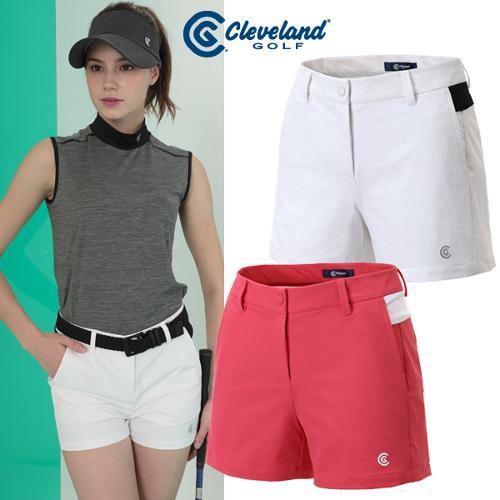 [클리브랜드골프] 스트레치 컬러배색 로고 포인트 여성 골프 반바지/골프웨어_CGKWPT088x