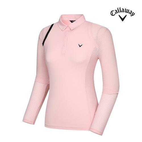 [캘러웨이]기획 여성 냉감 소매 펀칭 카라 티셔츠 CWTYJ5456-403_G