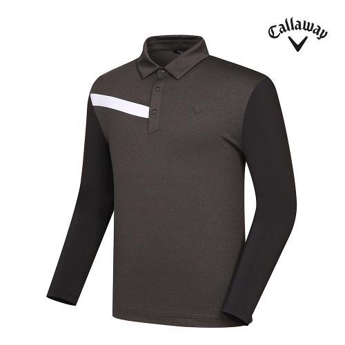 [캘러웨이]21SS 남성 냉감소매 원포인트 카라 티셔츠 CMTYK1253-195_G