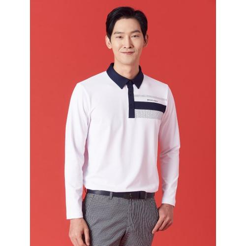 [빈폴골프] ★임진한 Pick★ 남성 화이트 도트 포인트 칼라 티셔츠 (BJ1141B081)