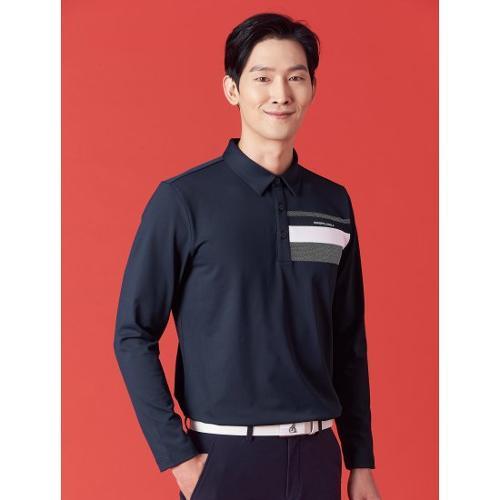 [빈폴골프] 남성 네이비 도트 포인트 칼라 티셔츠 (BJ1141B08R)