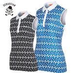 [세바스찬골프] 변형라인 패턴 여성 카라넥 민소매 티셔츠/골프웨어_254057